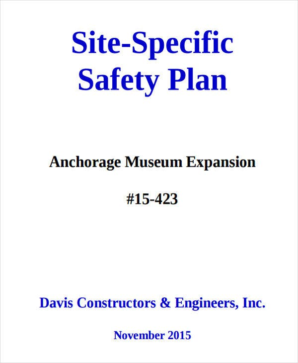 Subcontractor safety management plan template – subcontractor.