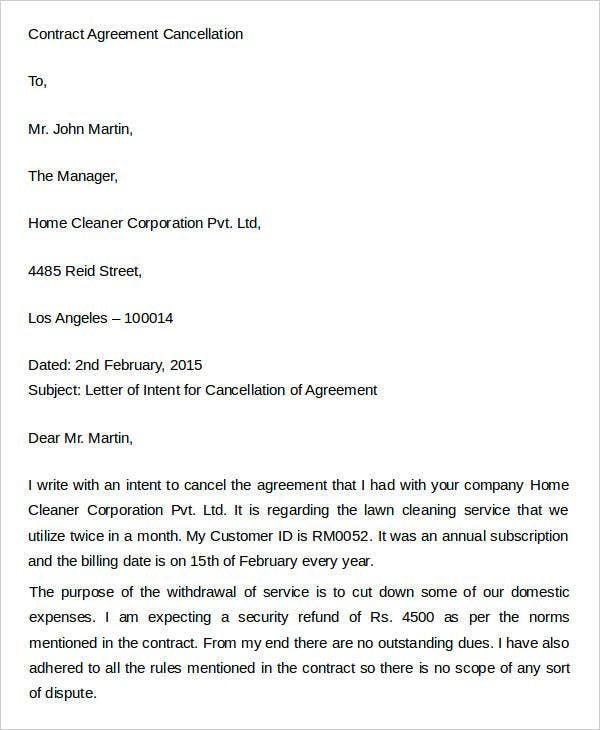Agreement Letter Templates  Free  Premium Templates