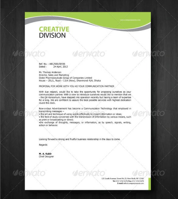 Elegant Professional Corporate Letterhead Template 000890: The Importance Of Letterheads In Business Letters