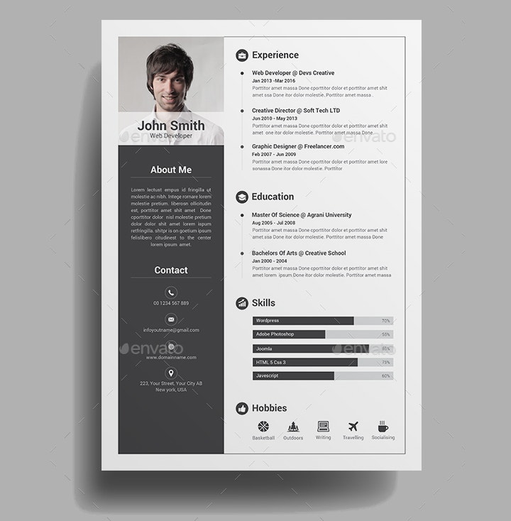 creative infographic resume1