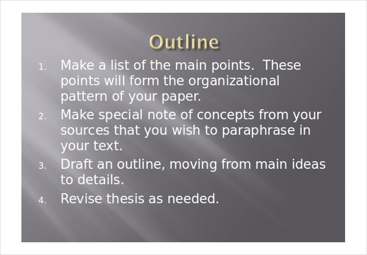 creative research outline paper