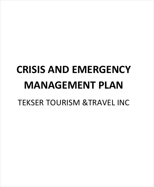 crisis management plan for emergency