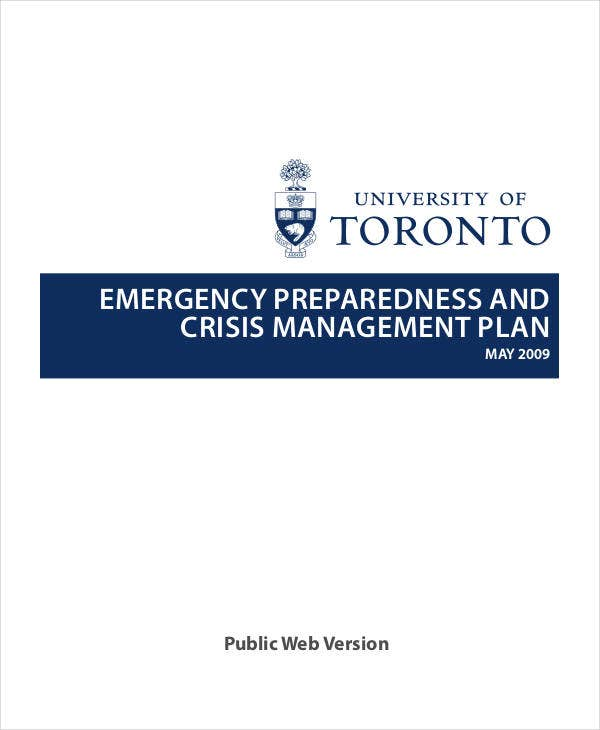crisis management plan for emergency1