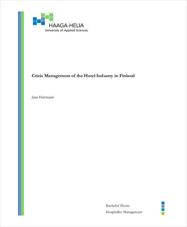 crisis management plan for hotel1