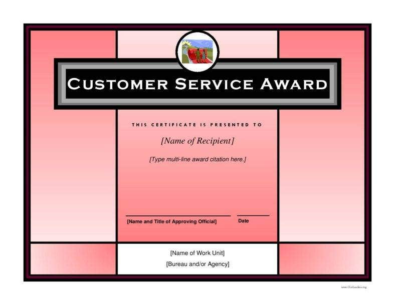 8 employee recognition certificates free premium for Service anniversary certificate templates