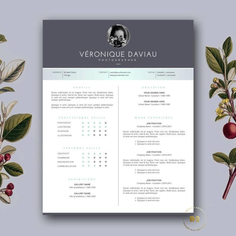 customizable portfolio resume  788x788