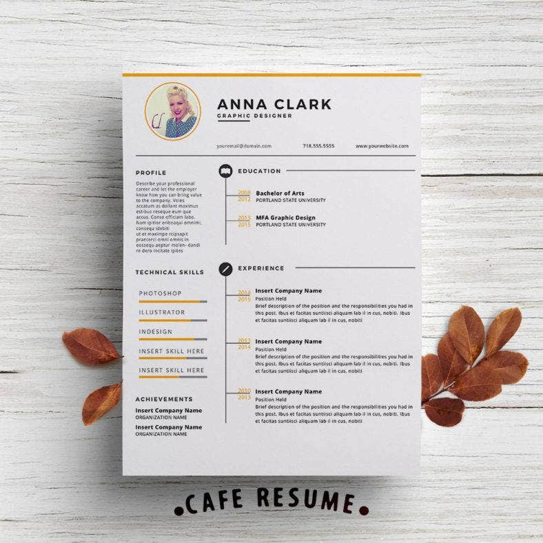 customizable resume design 788x788