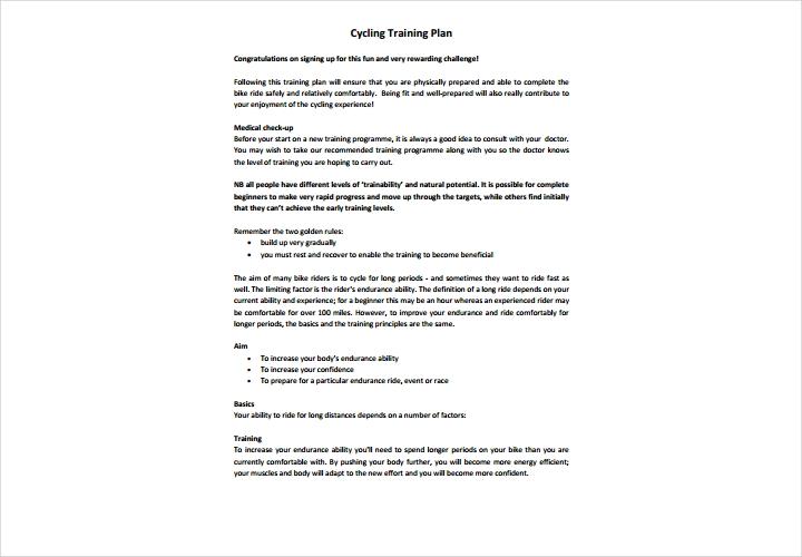 cycling training plan