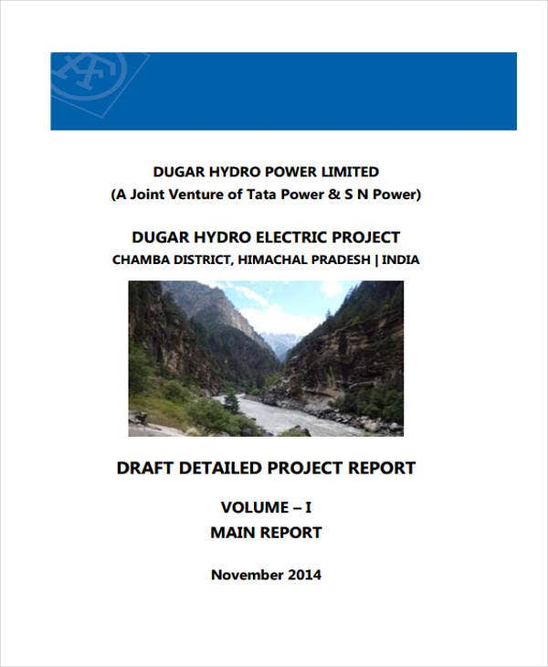 detailed draft project report