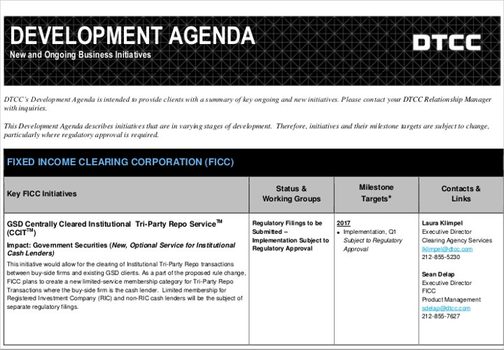 development meeting agenda