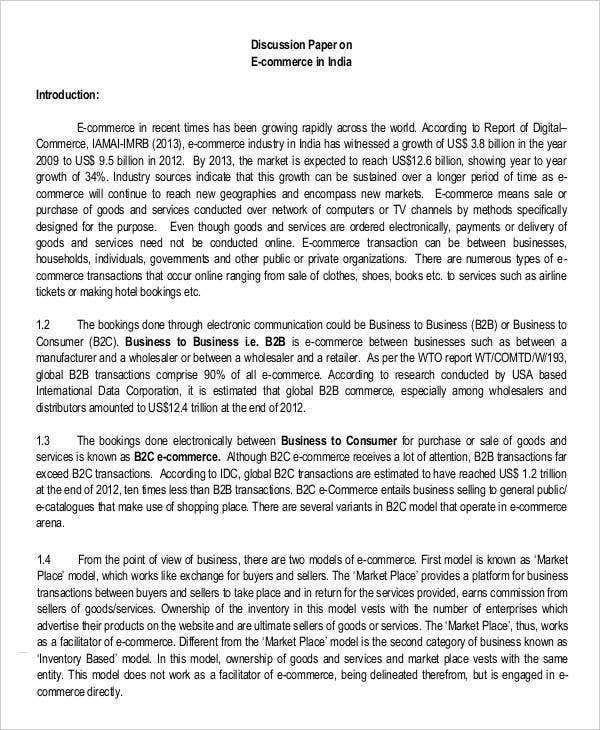 11 business paper templates free sample example format download discussion paper for business wajeb Images