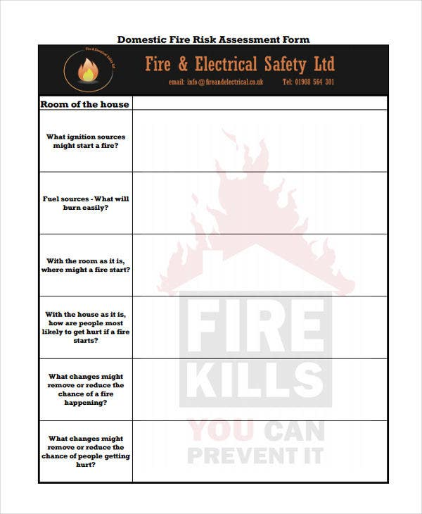 domestic fire risk assessment