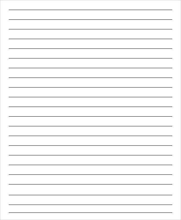Editable Blank Lined Paper