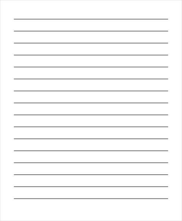 Editable Blank Lined Paper  Lined Paper Template Word