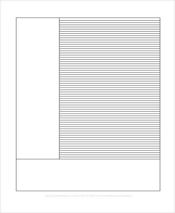 editable note taking lined paper