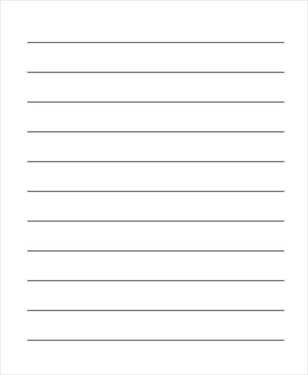 Editable Primary Lined Paper