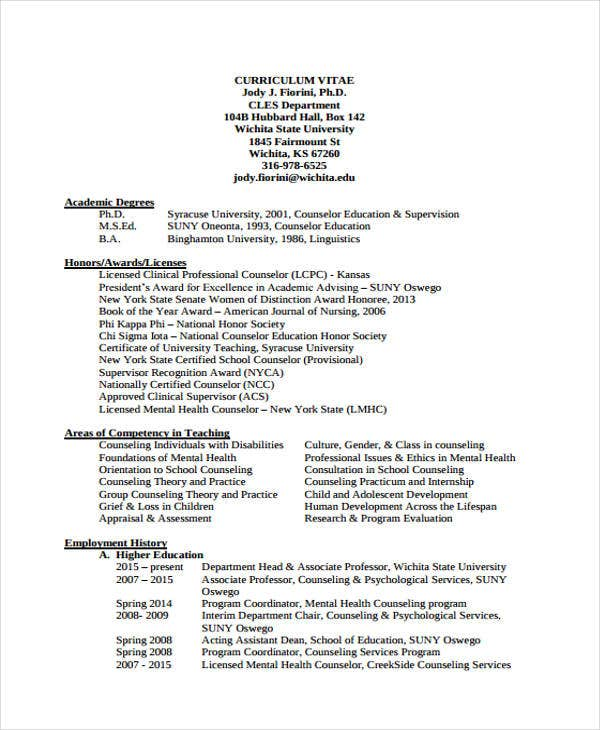 education counselor resume example - Sample Resume Education Program Coordinator