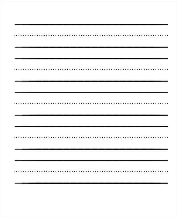 elementary school lined paper