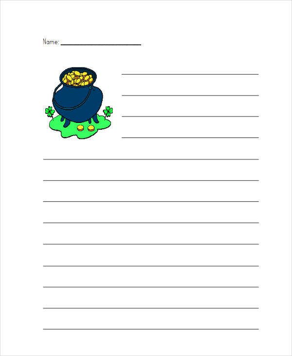 elementary student lined paper