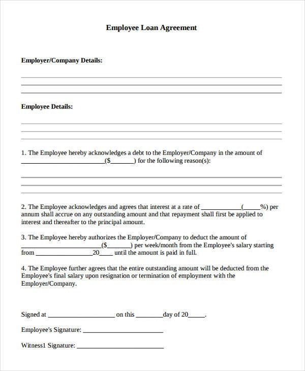 20 loan agreement formats free premium templates for Employee vehicle use agreement template