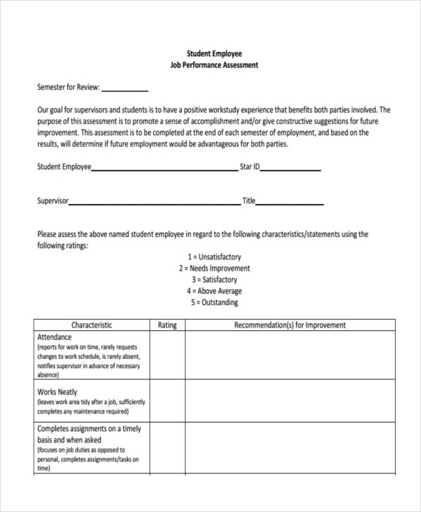 Star Assessment Template Sample Community Needs Assessment Template