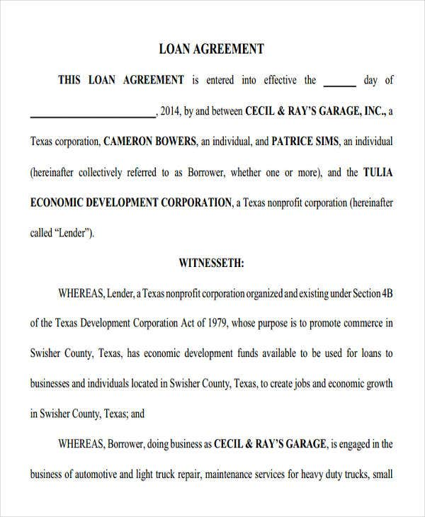 employee loan agreement form1