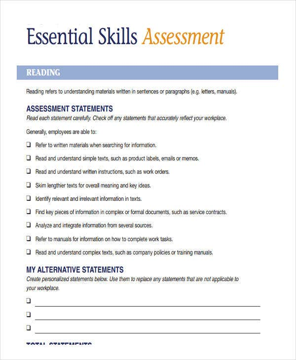 employee organizational needs assessment