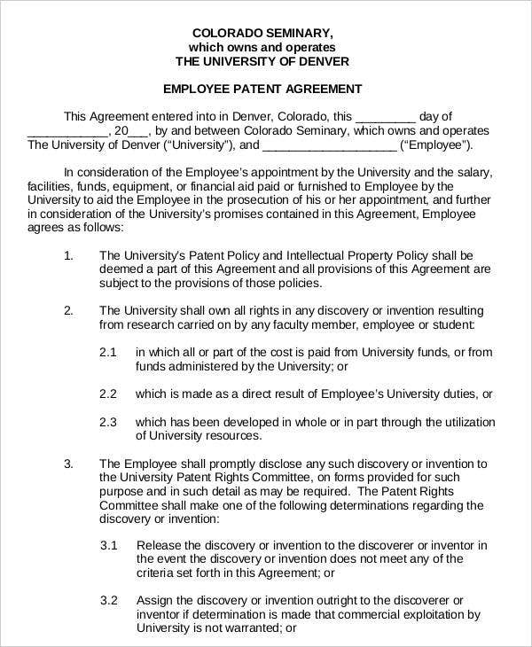 employee patent