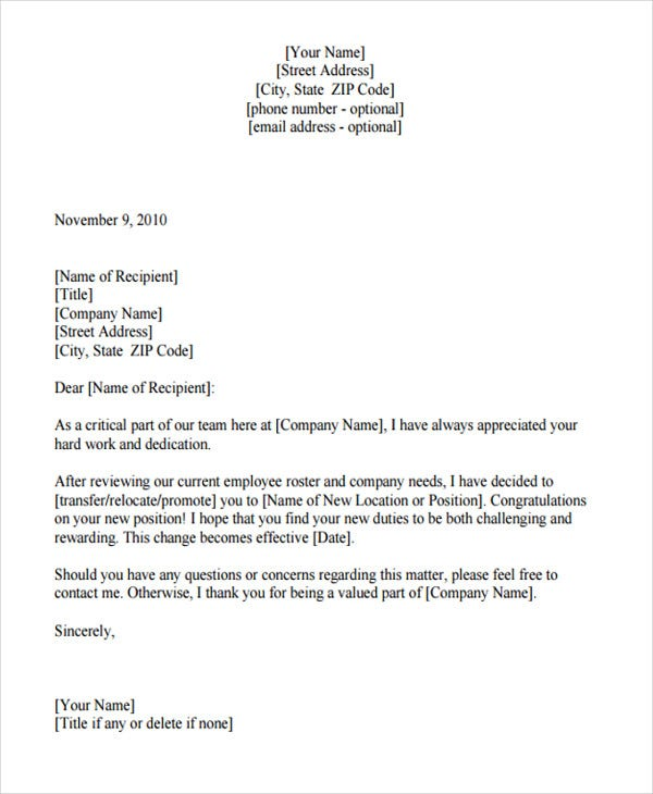 20 transfer letter templates in pdf free premium templates employee transfer confirmation spiritdancerdesigns Images