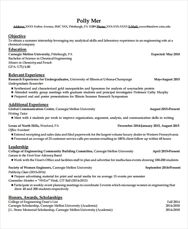 20  engineering resume templates in pdf