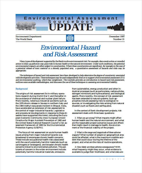 environmental hazard and risk assessment