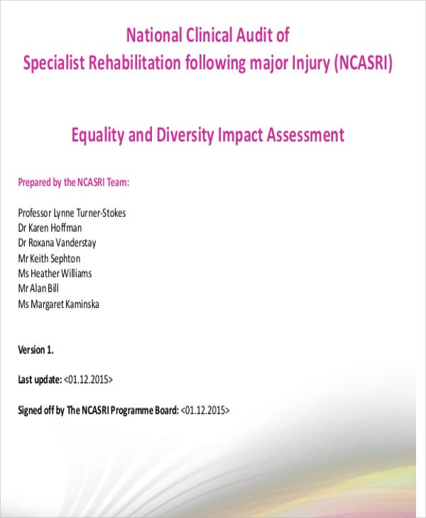 equality and diversity impact assessment