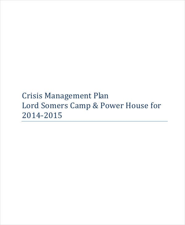 event crisis management plan