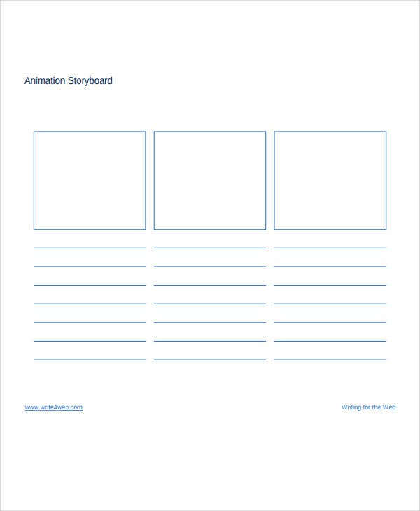 example animation storyboard