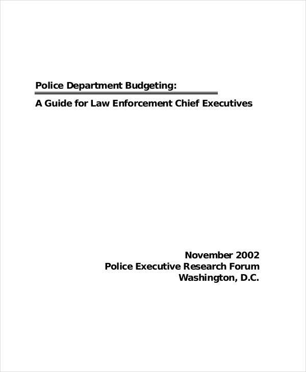 example of department budget