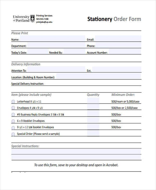 example of order template1