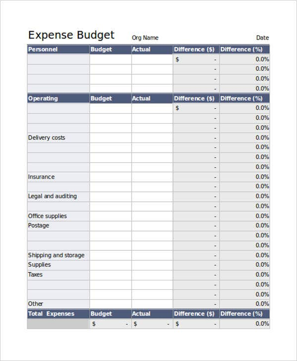 33 Expense Sheet Templates Free Premium Templates