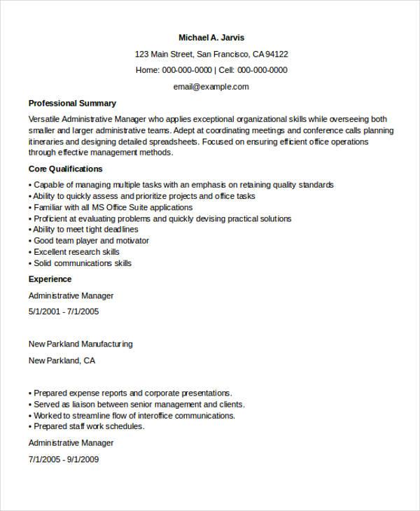 Executive Administrative Manager