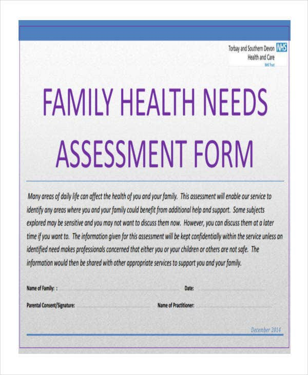 family health needs assessment1