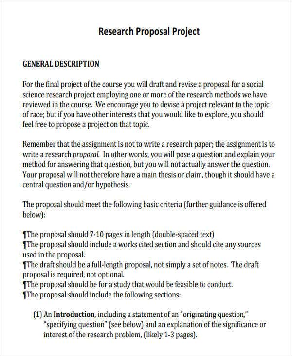 19 Project Proposal Templates Free Premium Templates
