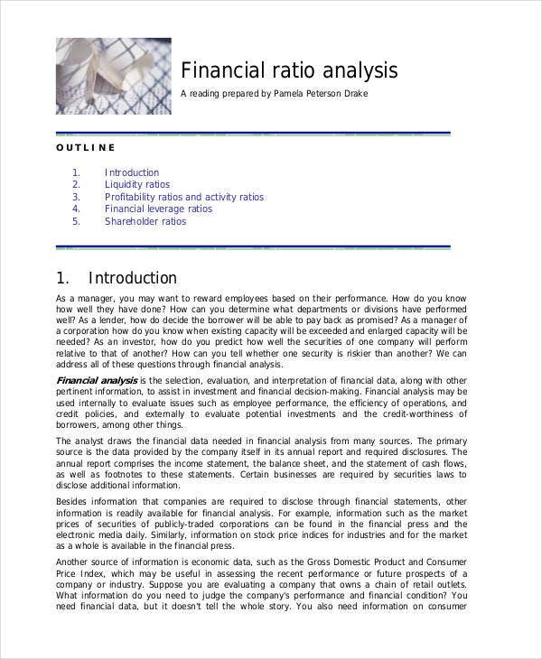 financial ratio analysis and industry averages finance essay Financial statement analysis [total: 45 marks] appendix a): ratios and industry averages (11 marks) 2016 2015 industry averages debt ratio 28% 27% 40.