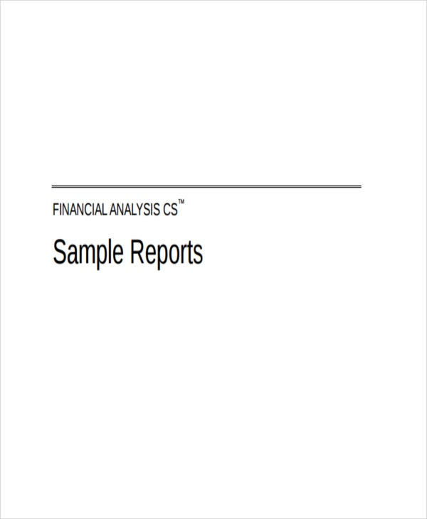 33+ Financial Analysis Samples | Free & Premium Templates