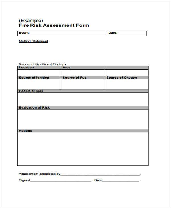 28 Risk Assessment Samples Free Premium Templates