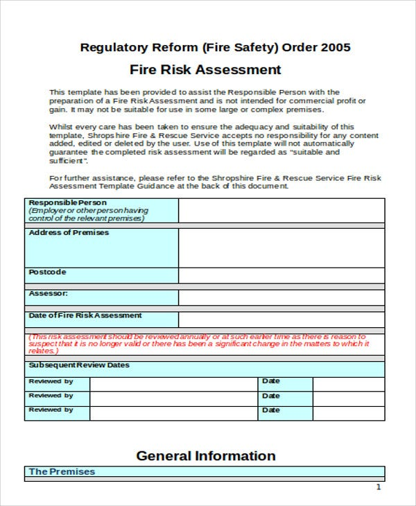 fire risk assessment1