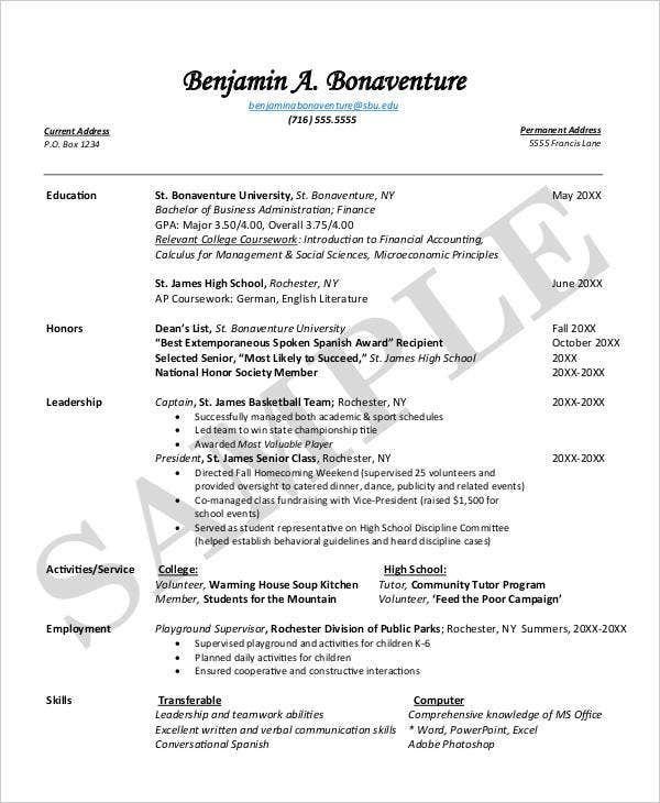fresh out of college resume eli 32 best images about