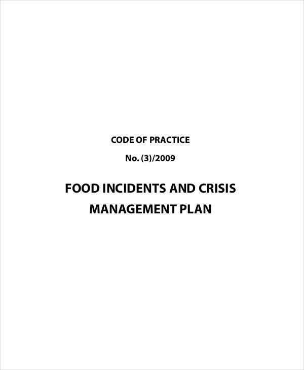food crisis management plan