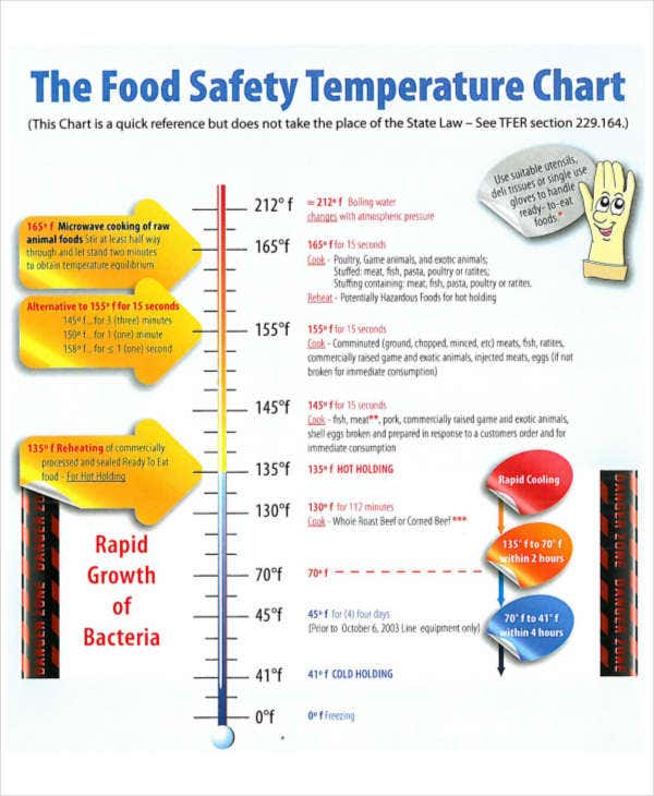 graphic regarding Printable Food Temperature Chart identify Climate Chart Templates - 7+ Totally free Samples, Illustrations