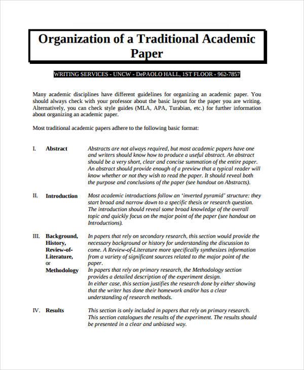 formal academic paper