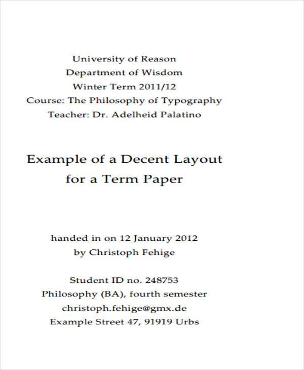 formal term paper