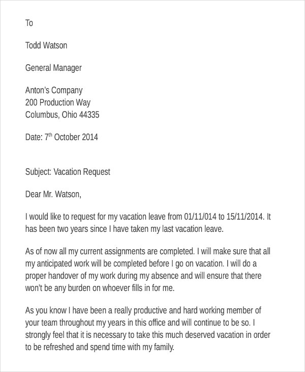 Request Letter Template  Free  Premium Templates